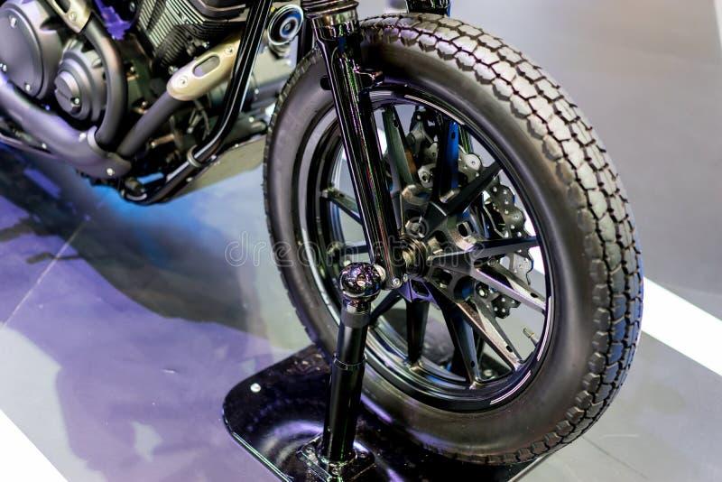 Frontowy koło motocykl fotografia stock