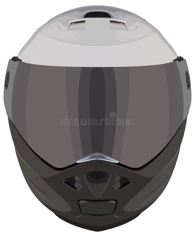Frontowy motocyklu hełm zdjęcia stock