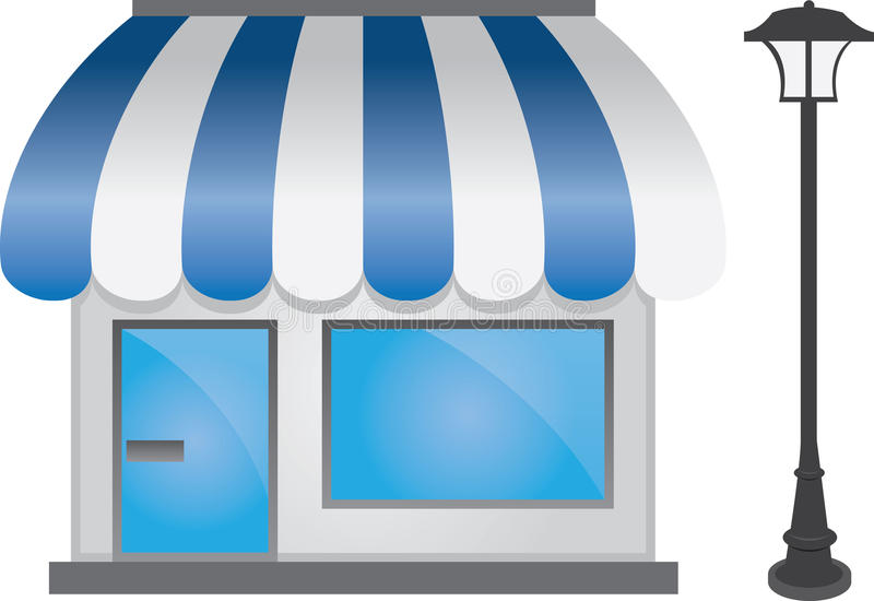 frontowy sklep royalty ilustracja