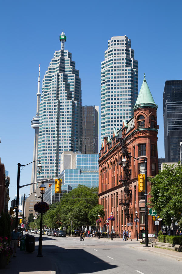 Frontowy Uliczny Wschodni Toronto obraz stock