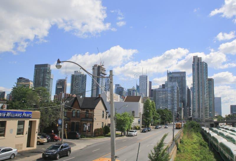Frontowy Uliczny zachód, W centrum Toronto, Ontario, Kanada zdjęcie royalty free