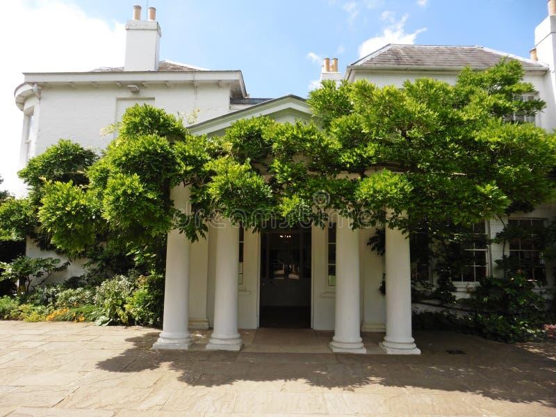 Frontowy wejście Pembroke stróżówka w Richmond Londyn zdjęcia royalty free