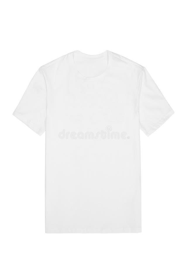 Frontowy widok biała koszulka na białym tle obraz royalty free