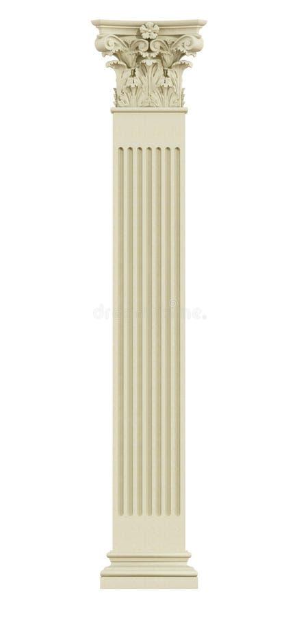Frontowy widok Koryncka kolumna ilustracji
