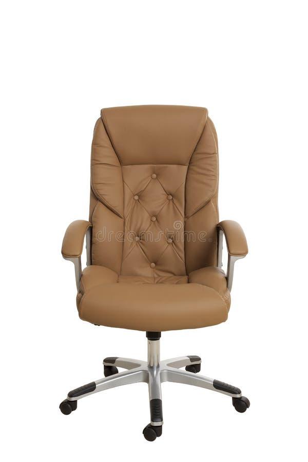 Frontowy widok luksusowy kierownika biura krzesło, wyścielany z li zdjęcia stock