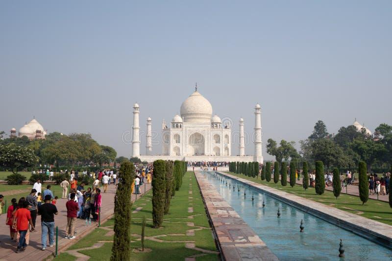 Frontowy widok park Mahal w Agra Taj i, India zdjęcie stock