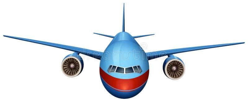 Frontowy widok samolot ilustracja wektor