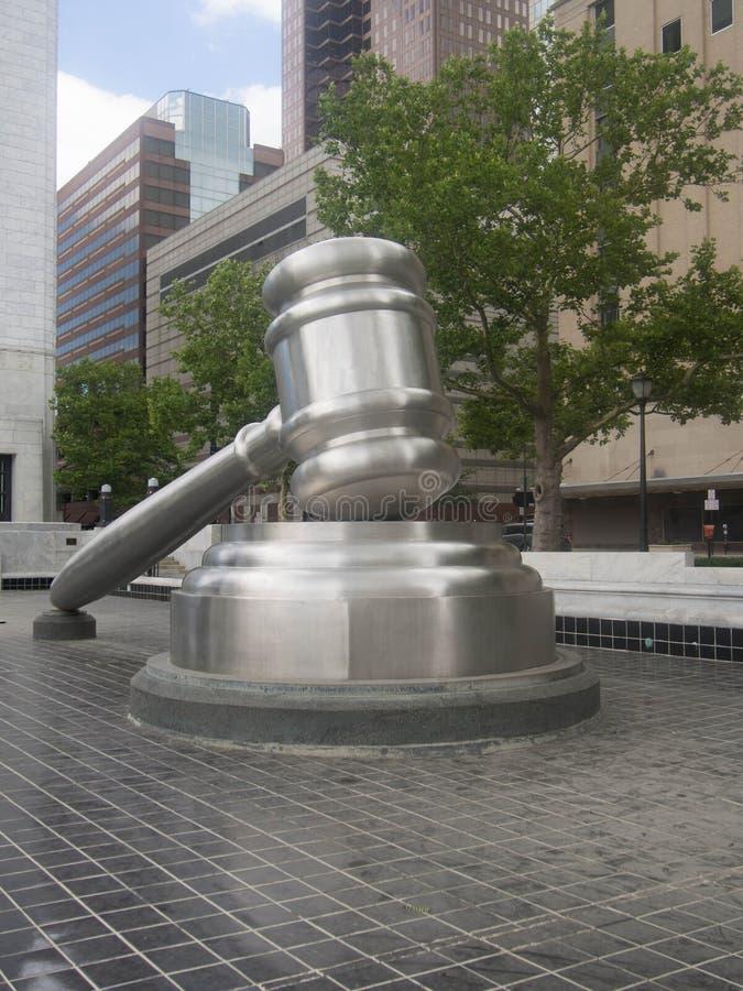Frontowy widok sprawiedliwość zdjęcie stock