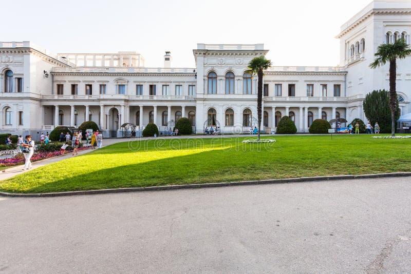 Frontowy widok Uroczysty Livadia pałac obraz stock