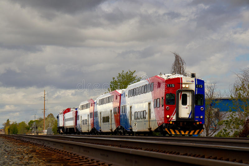 `FrontRunner` Commuter Train in Utah stock images