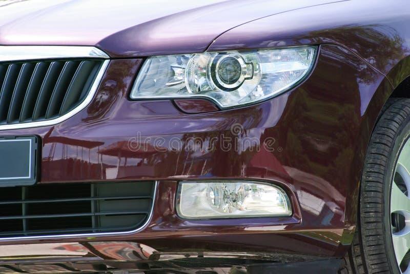 Frontseite des Autos stockbild