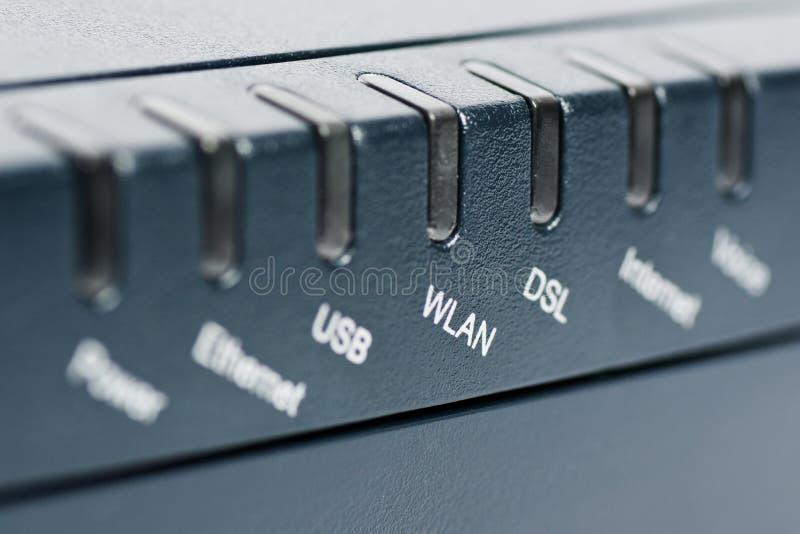 Frontseite des drahtlosen Fräsers mit Fokus auf WLAN lizenzfreie stockfotos