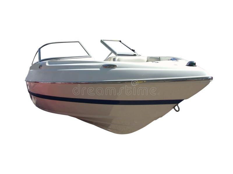 Frontseite des Luxuxbootes stockbild
