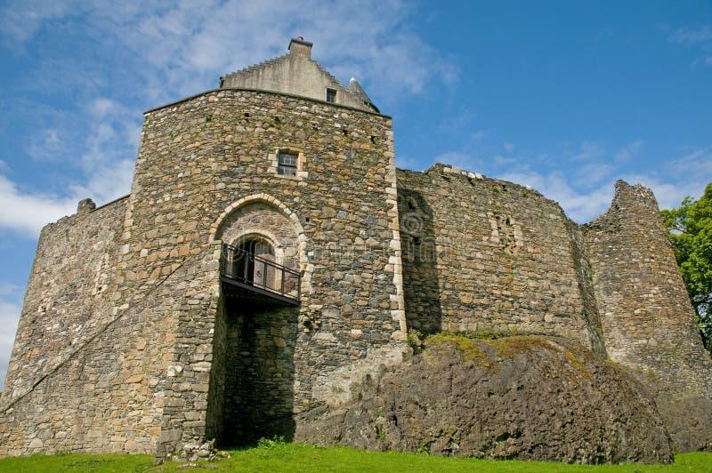 Frontseite des Schlosses stockfotografie