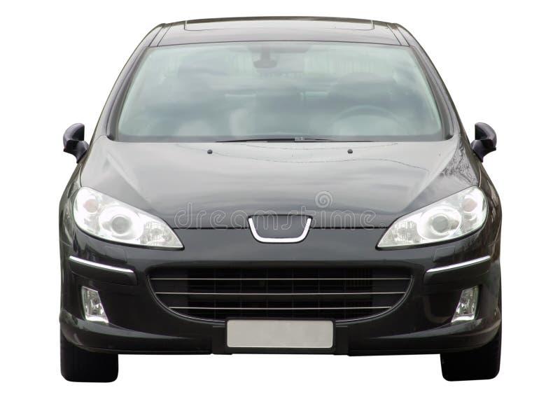 Frontseite des schwarzen Autos stockfoto