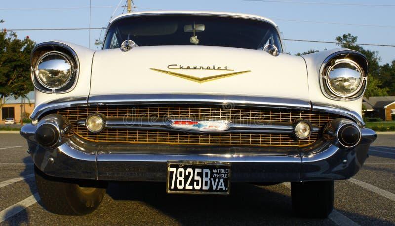 Frontseite von 57 Chevy lizenzfreies stockbild