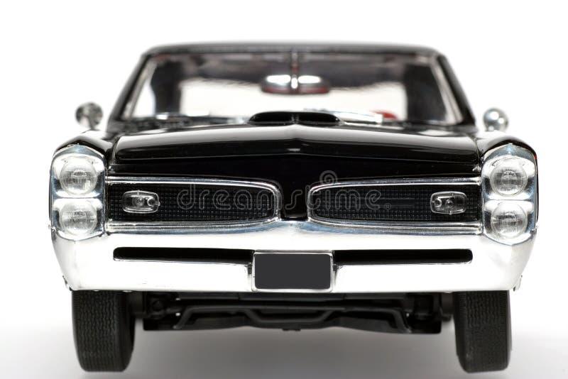 Frontview 1966 del coche del juguete de la escala del metal de Pontiac GTO imagen de archivo