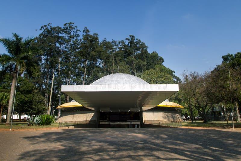 Frontview ibrapuera ` s planetarium fotografia stock