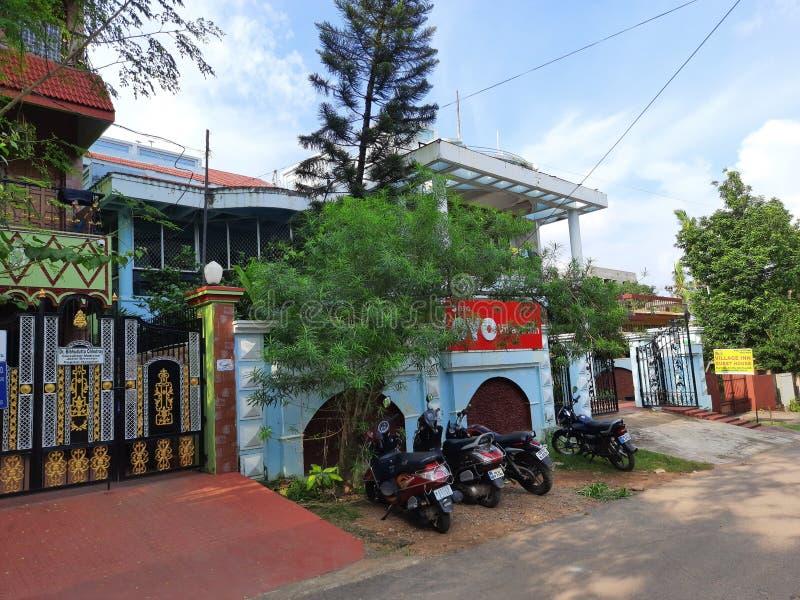Frontvy för indisk gästhus royaltyfria bilder