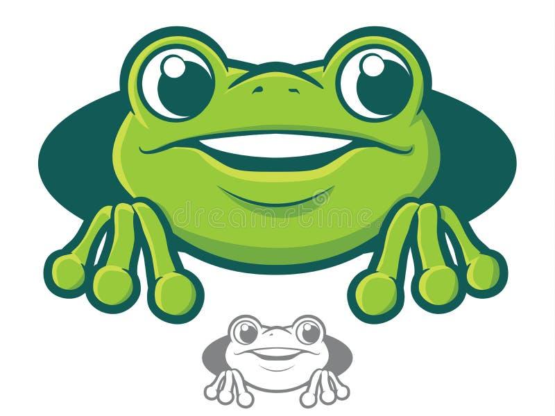 Frosch-Charakter-Ikone stock abbildung