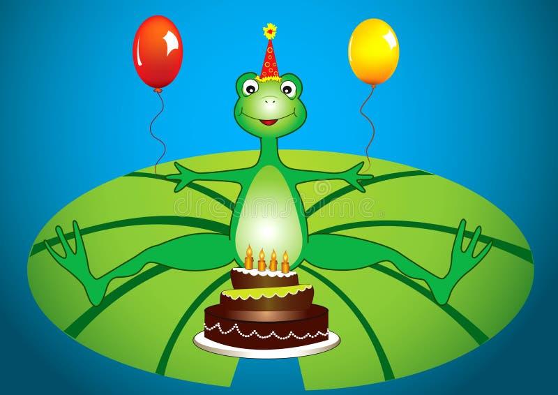 Frosch-Geburtstagsfeier stock abbildung