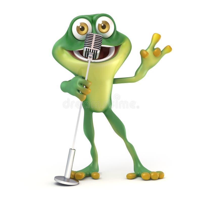 Frosch-Gesang lizenzfreie abbildung