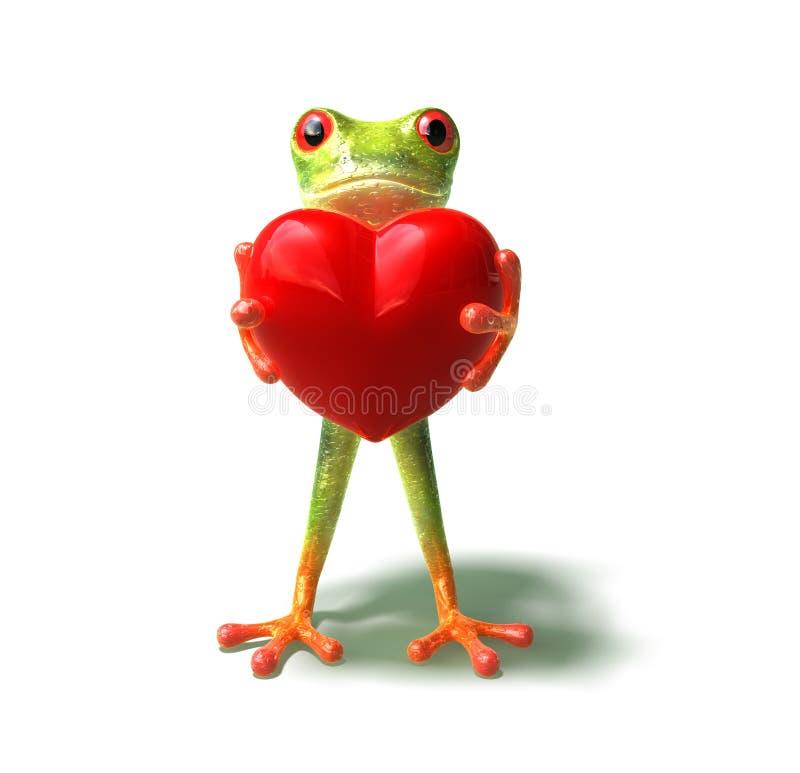 Frosch mit einem Inneren vektor abbildung