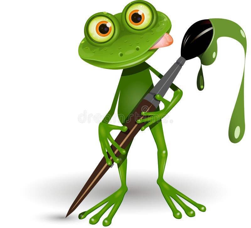 Frosch mit Farbe lizenzfreie abbildung