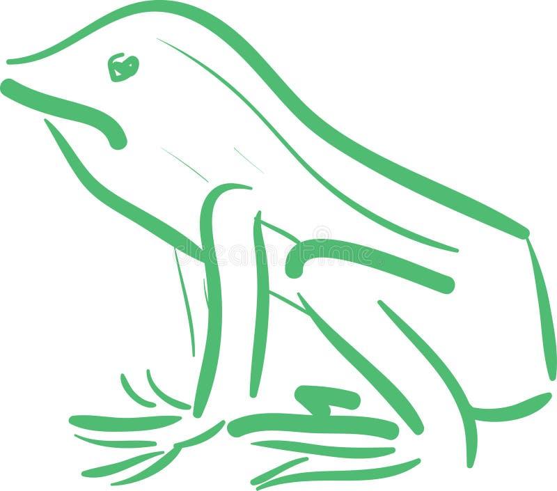 Download Frosch-Skizze vektor abbildung. Illustration von amphibie - 27728725