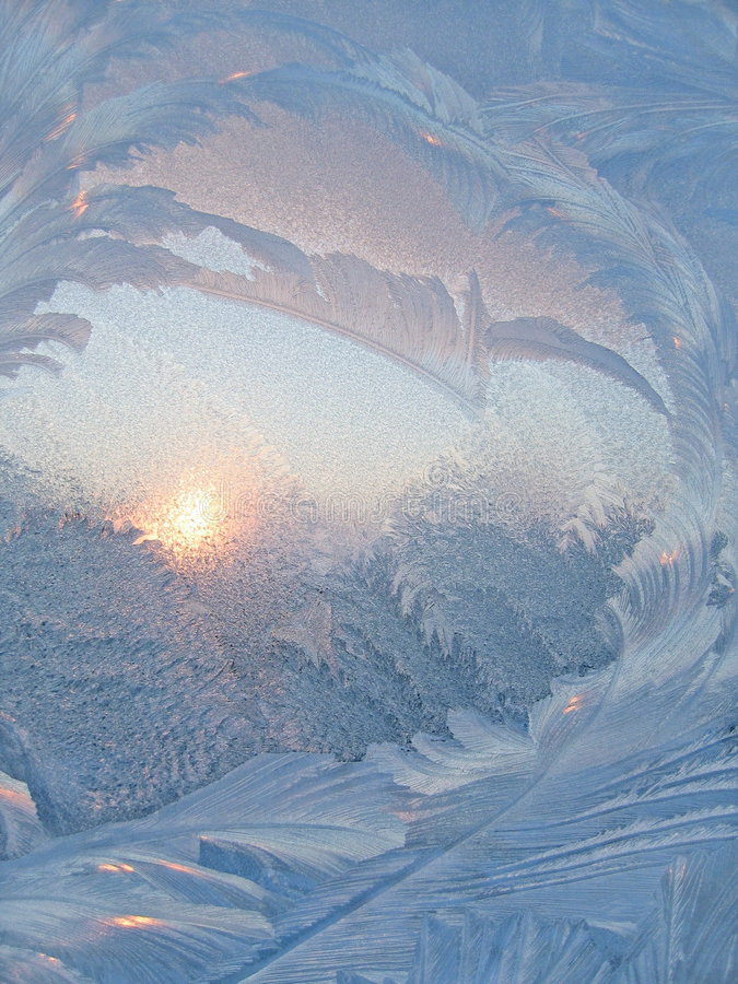 Free Frost And Sun Abstract Background Royalty Free Stock Photography - 5236537