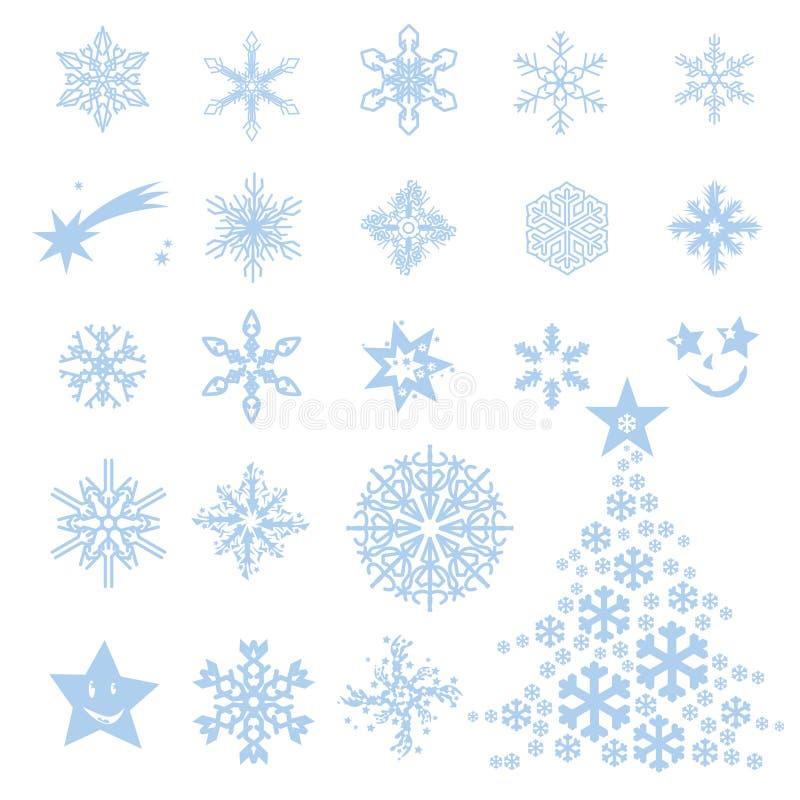 Frost-Blumen und -sterne stock abbildung