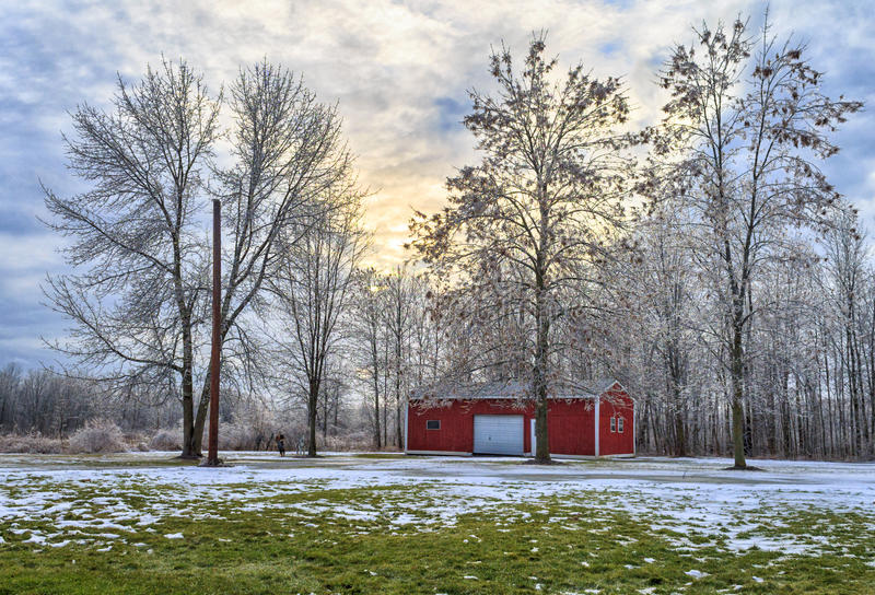 Frost Covered Yard royalty free stock photo