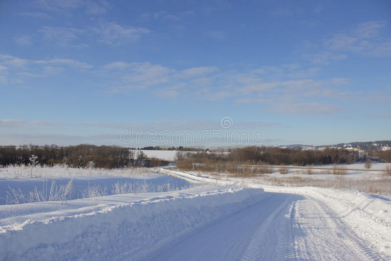 Frost, dunkelblauer Himmel lizenzfreies stockbild