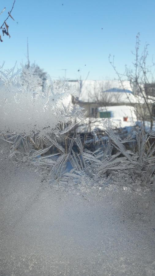 Frost et beau jour photo libre de droits