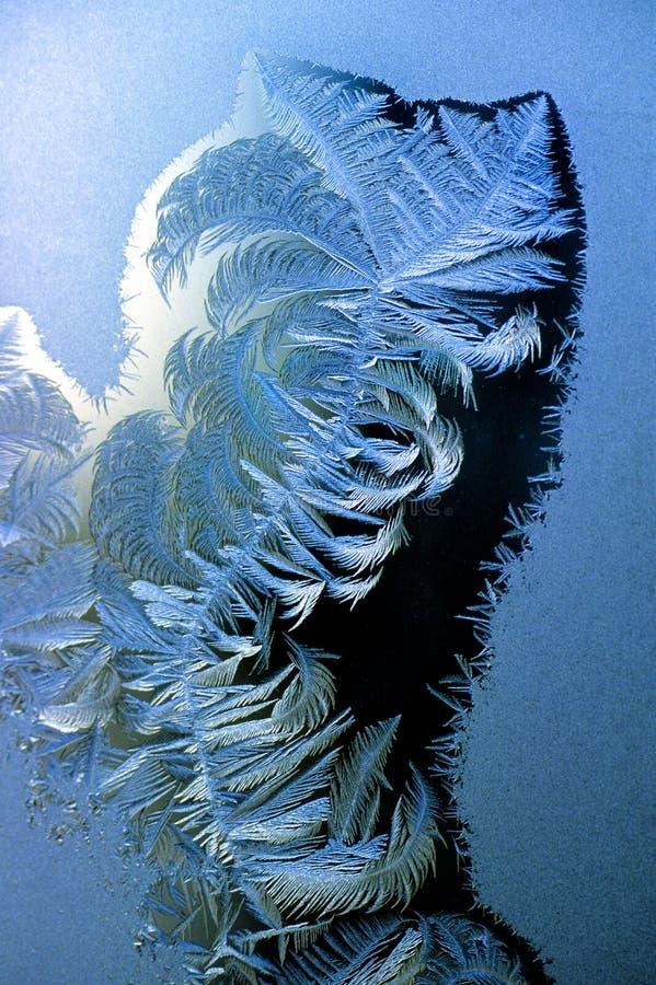 frost förser med rutor fönstret arkivfoton