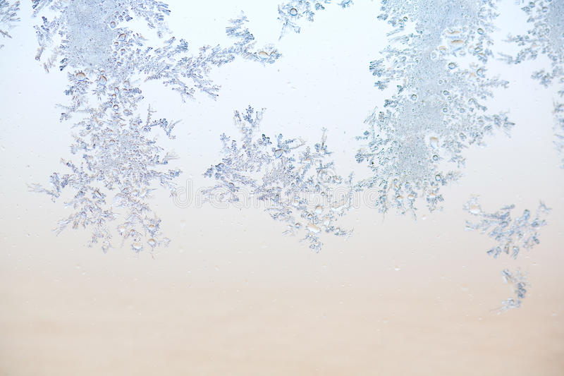 Frost pattern. Soft colored frost pattern background royalty free stock photos