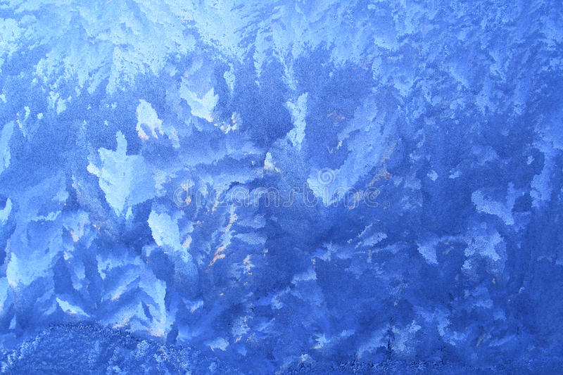 Frost pattern. On window glass stock image