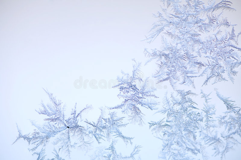 Frost pattern. With copyspace as background stock images