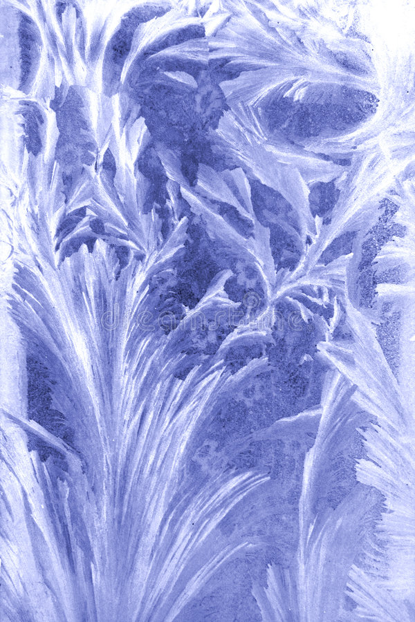 The frost picture on the window glass royalty free stock photo