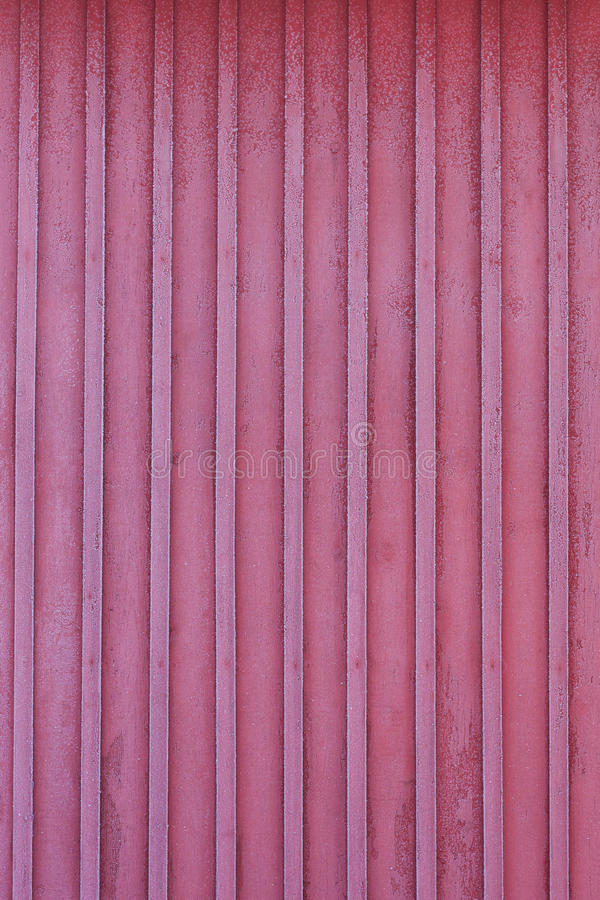 Frost red wall of wooden house at winter stock photos