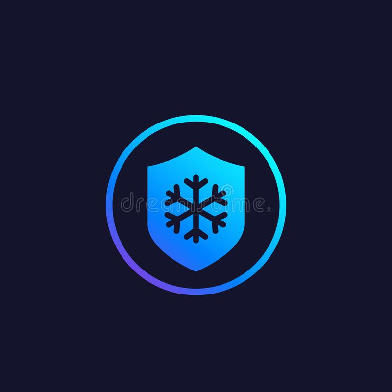 Frost resistance icon. Eps 10 file, easy to edit vector illustration
