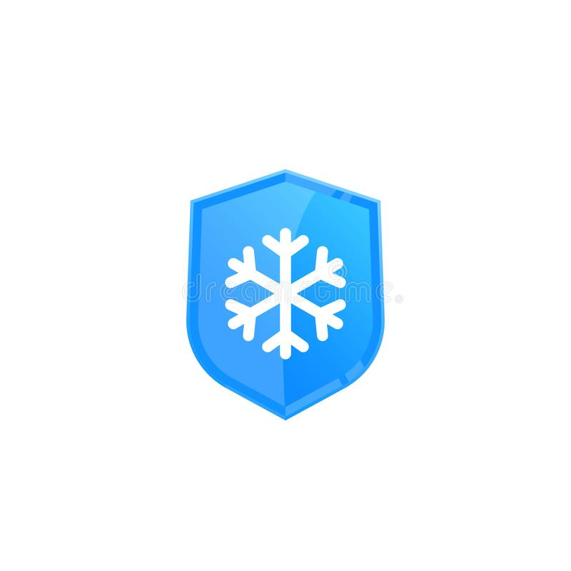 Frost resistant, cold resistance icon. Eps 10 file, easy to edit royalty free illustration