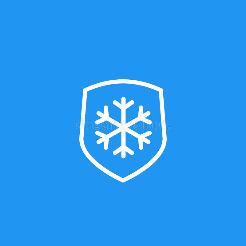 Frost resistant, resistance icon. Eps 10 file, easy to edit stock illustration
