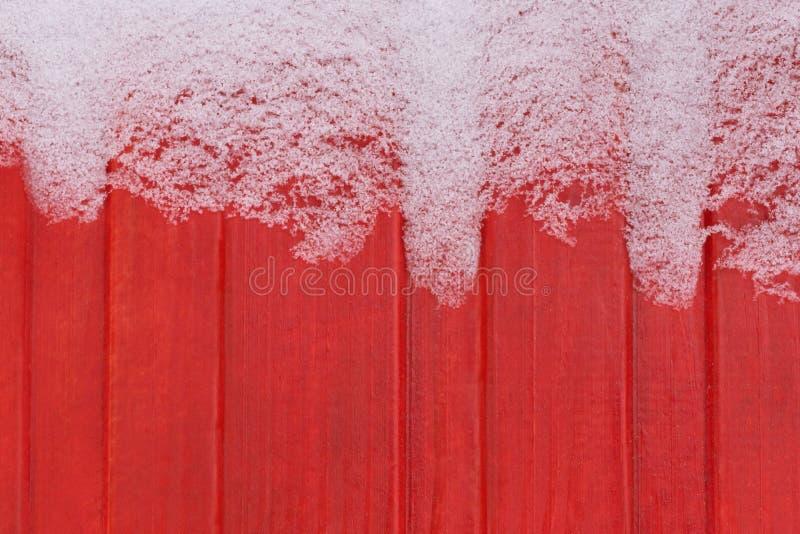Frost sur le mur en bois photo stock