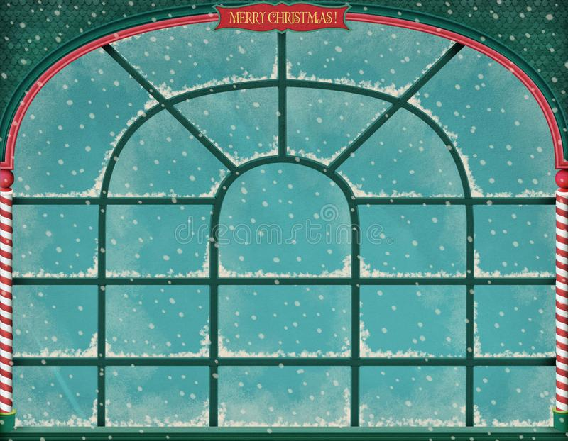 Frost window stock image