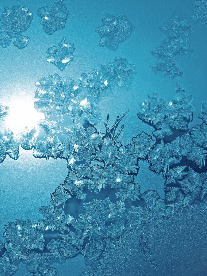 Frostblaubeschaffenheit stockbild