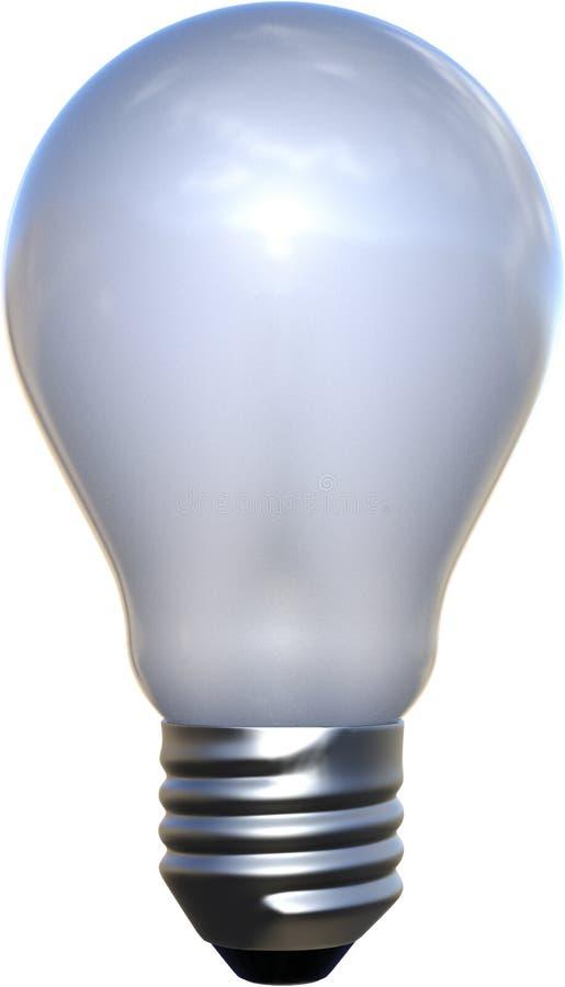 Frosted światło białe żarówka Odizolowywająca, Lightbulb zdjęcia stock