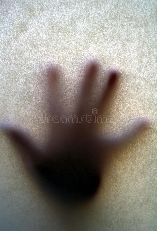 Download Frosted Glass Pressed By Blurred Hand Stock Image - Image: 15127755
