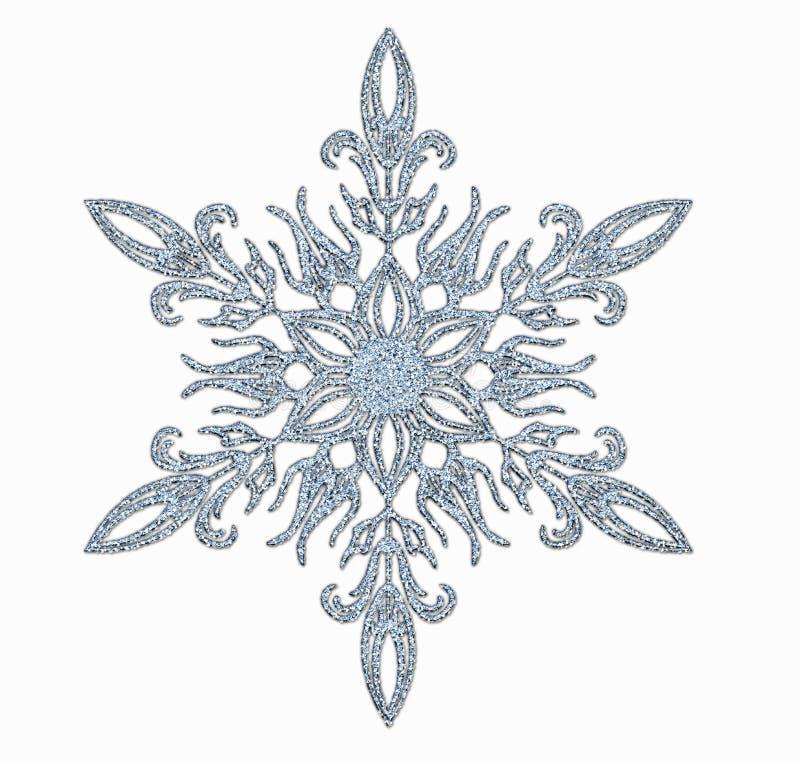 Frosted płatek śniegu ilustracja wektor