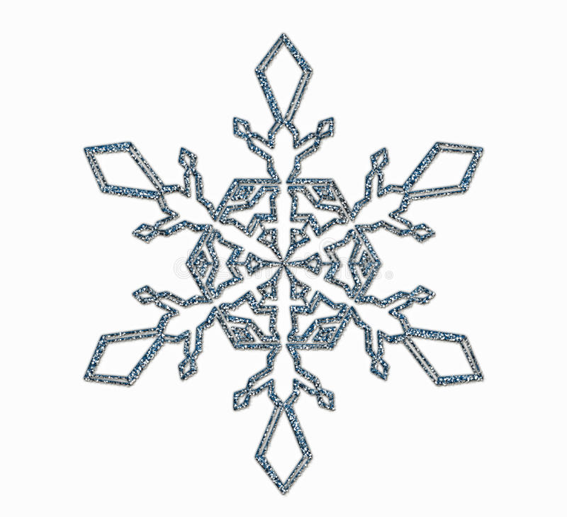 Free Frosted Snowflake Ornament Royalty Free Stock Photography - 35549597